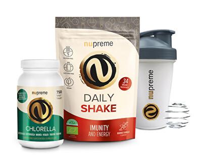 Daily Shake 200 g BIO NUPREME + Chlorella BIO 750 tbl. NUPREME + Shaker
