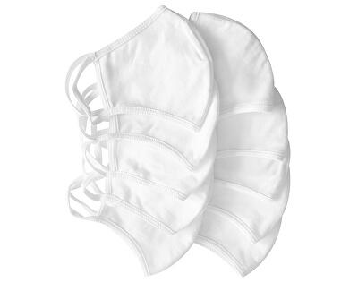 Rúška bavlnená 100%, 2 vrstvová, antibakteriálne balenie 10 kusov