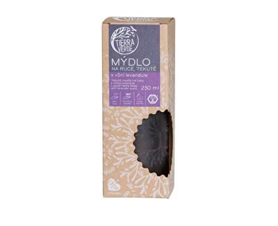 Tekuté mýdlo na ruce levandulové ve skleněné lahvičce 230 ml