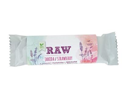 BIO RAW jahodová tyčinka s Levandulí Chodouňskou 50 g