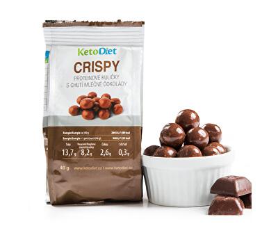 CRISPY proteinové kuličky s chutí mléčné čokolády 48 g