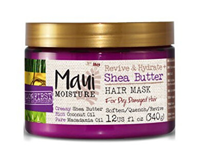 MAUI oživujúca maska + Shea Butter pre zničené vlasy 340 g
