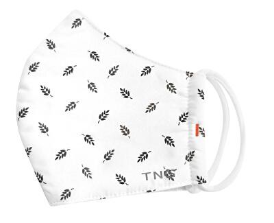 TNG rúško textilné 3-vrstvová vel. M biela vzor