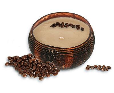 Lumânare cu nucă de cocos - parfum de cafea Mocha