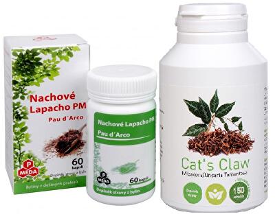 Doporučená kombinácia produktov Cat`s Claw + Purpurové lapacho PM (Pau d`Arco)