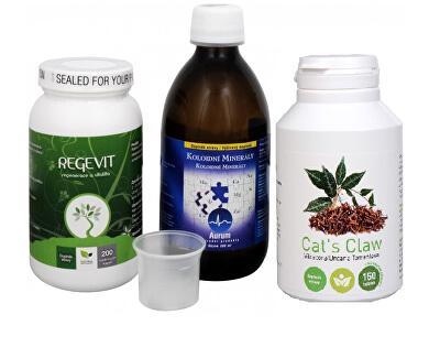 Doporučená kombinace produktů Na Střeva - Cat´s Claw + Regevit + Koloidní minerály