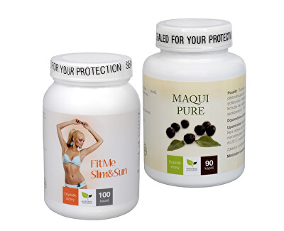Doporučená kombinace produktů Na Sluneční ochranu - Maqui Pure + FitMe Slim&Sun