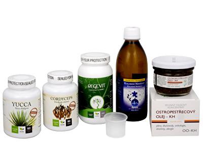 Na Únavu - Cordyceps Premium + Regevit + Koloidní minerály + Ostropestřecový olej (kaše) + Yucca