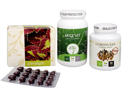 Doporučená kombinace produktů Na Imunitu - Cordyceps Premium + Regevit + Peralgin