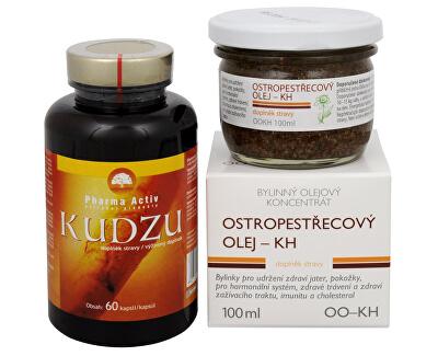 Doporučená kombinace produktů Na Alkoholismus - Kudzu + Ostropestřecový olej (kaše)