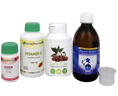 Doporučená kombinace produktů Na Imunitu - Cat´s Claw + Koloidní minerály + Vitamín C 1000 se šípkem + Zinek ZDARMA