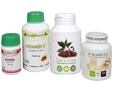 Doporučená kombinace produktů Na Pleť - Cat´s Claw + B-komplex Premium + Vitamín C 1000 se šípkem + Zinek ZDARMA