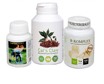 Doporučená kombinace produktů Na Kůži - Cat´s Claw + B-komplex Premium + Symbi II