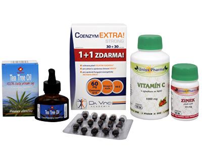 Doporučená kombinace produktů Na Dásně a zuby - Tea Tree Oil + Vitamín C 1000 se šípkem + Zinek ZDARMA + Coenzym Extra Strong