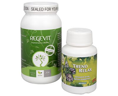Doporučená kombinácia produktov Na Stres - Regevit + Trend Relax