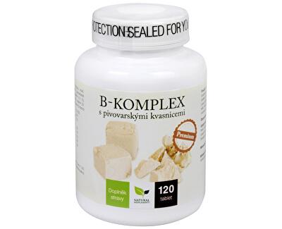 Natural Medicaments B-komplex s pivovarskými kvasnicami Premium 120 tbl. - ZĽAVA - poškodená etiketa