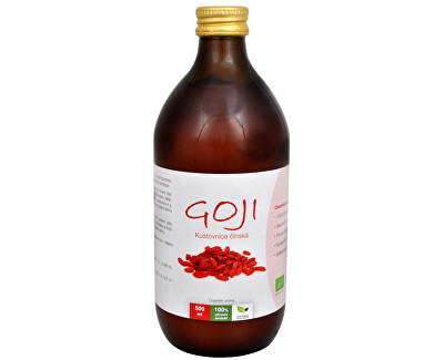 Natural Medicaments Goji Kustovnice čínská - 100% Bio šťáva 500 ml - SLEVA - poškozená etiketa