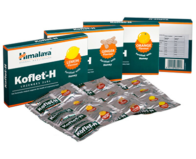 Agency MM Health Himalaya Koflet-H s medem a zázvorovou příchutí 12 pastilek - SLEVA - EXPIRACE