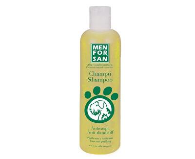 Menforsan Přírodní šampon proti lupům s citronem pro psy (Shampoo Anti-Dandruff Tonic and Purifying) 300 ml - SLEVA - VYTEKLÁ ČÁST OBSAHU