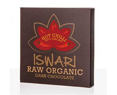 Iswari Raw čokoláda - Hot Chilli 80 % BIO 75 g - SLEVA - EXPIRACE