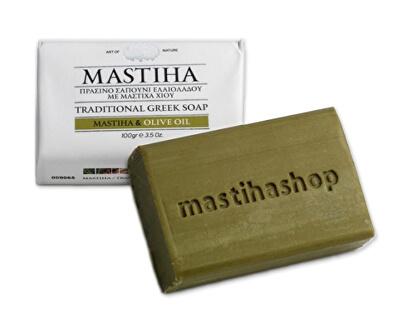Mastic Life Tradiční řecké mýdlo s mastichou a olivovým olejem 100 g - SLEVA - poškozená etiketa