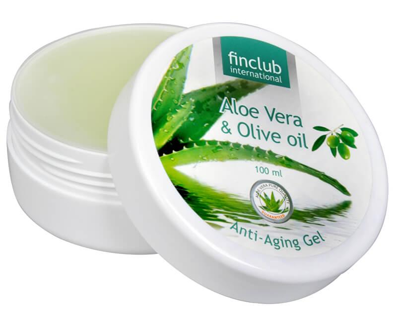 Finclub Anti-aging gel proti stárnutí Aloe vera & olivový olej 100 ml