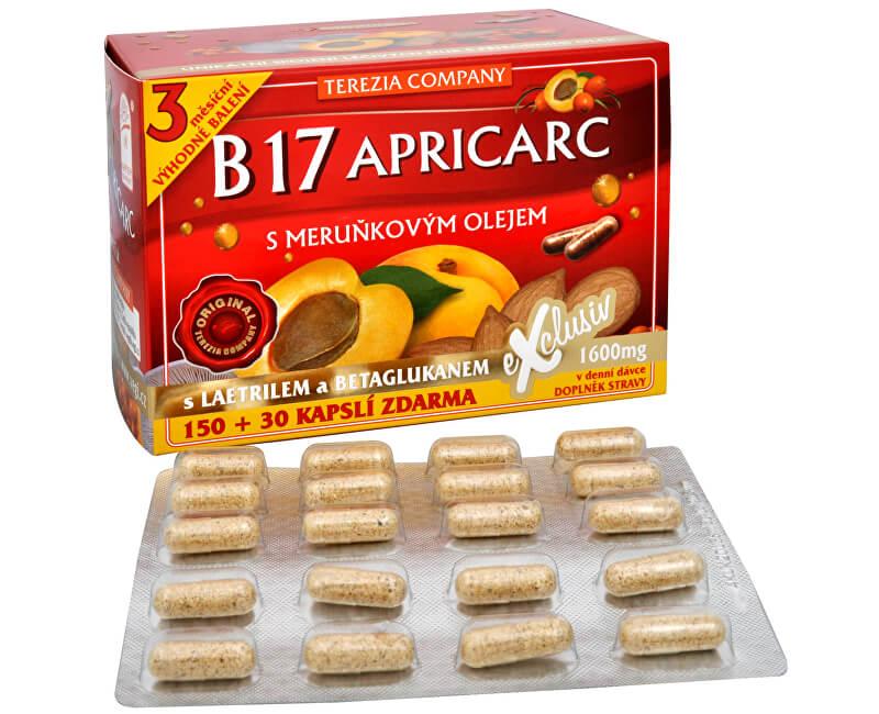 Terezia Company B17 Apricarc s meruňkovým olejem 150 kapslí + 30 kapslí ZDARMA