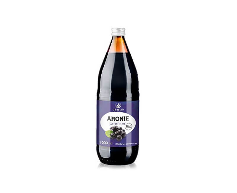 Allnature Aronie Premium - 100% Bio šťáva 1000 ml