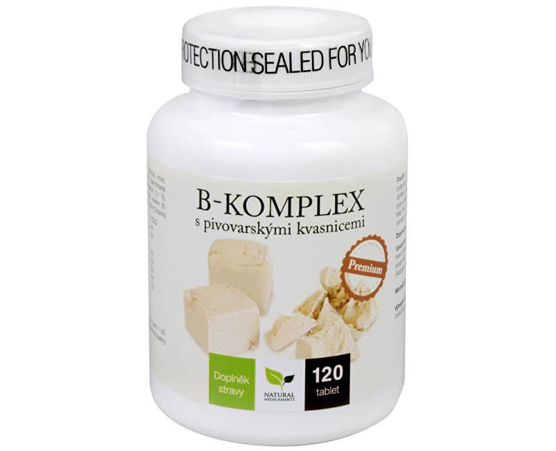 Natural Medicaments B-komplex s pivovarskými kvasnicami Premium 120 tbl.