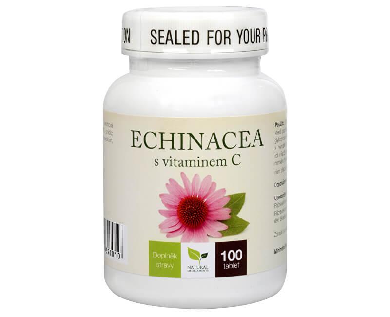 Natural Medicaments Echinacea s vitamínom C 100 tbl.