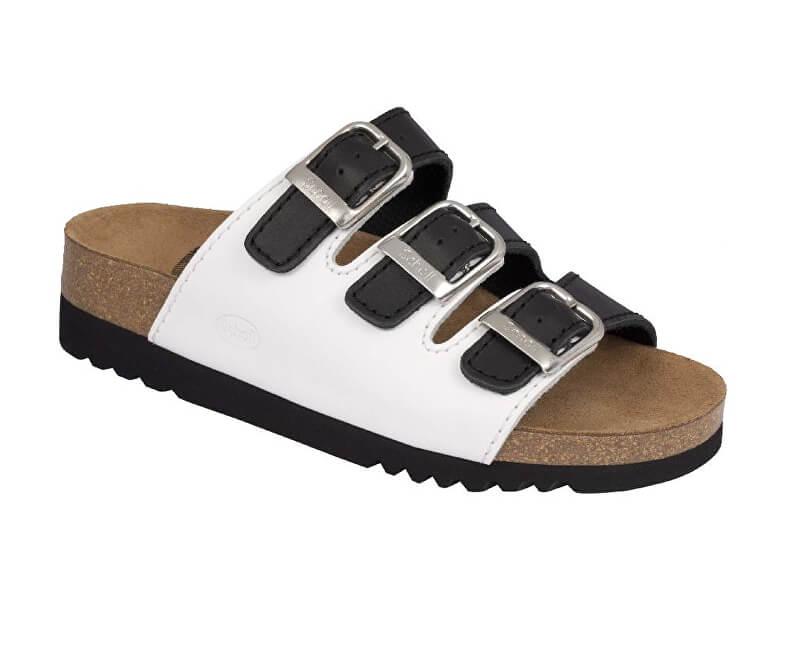 9744e13d2 Scholl Zdravotná obuv RIO WEDGE AD - čierna / biela Doprava ZDARMA ...