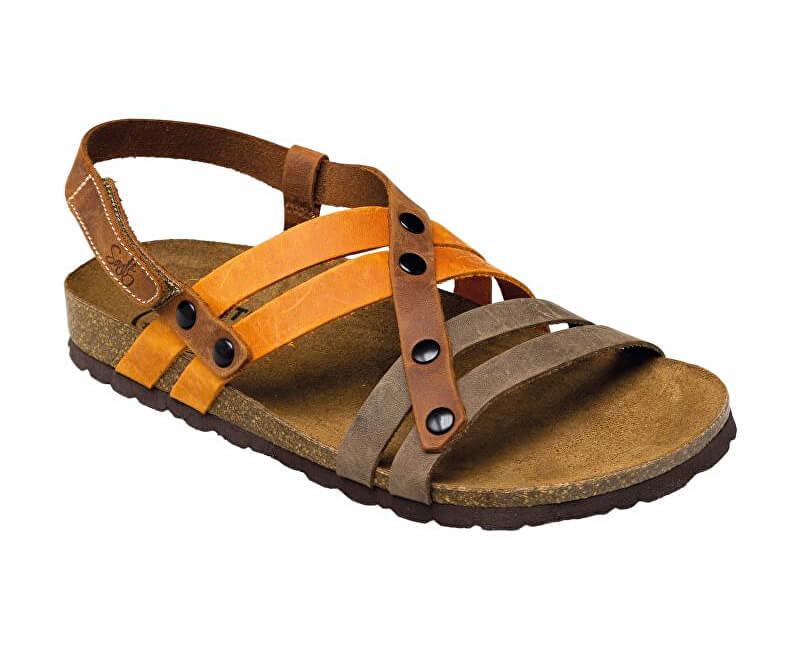 ac43ef1a72f SANTÉ Zdravotní obuv dámská IB 7200 hnědo-oranžová. vel.