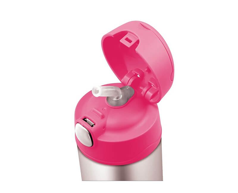 Thermos FUNtainer Detská termoska so slamkou - ružová 470 ml ... 1c0e4afcc19