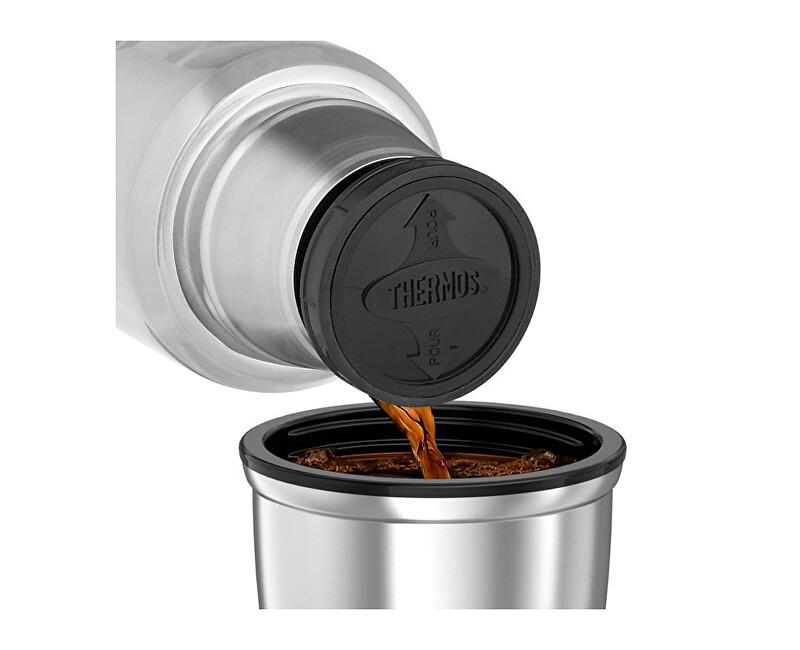 Thermos Style Termoska na nápoje s madlom - nerez 1 004ccd96aa8