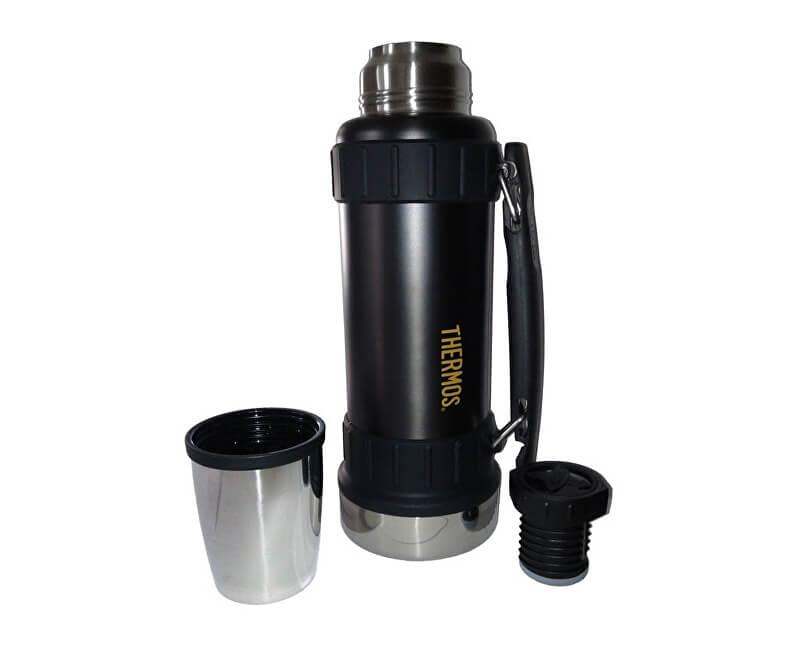 Thermos Work Odolná termoska na nápoje s madlem - černá 1 f1bb9d52c6b