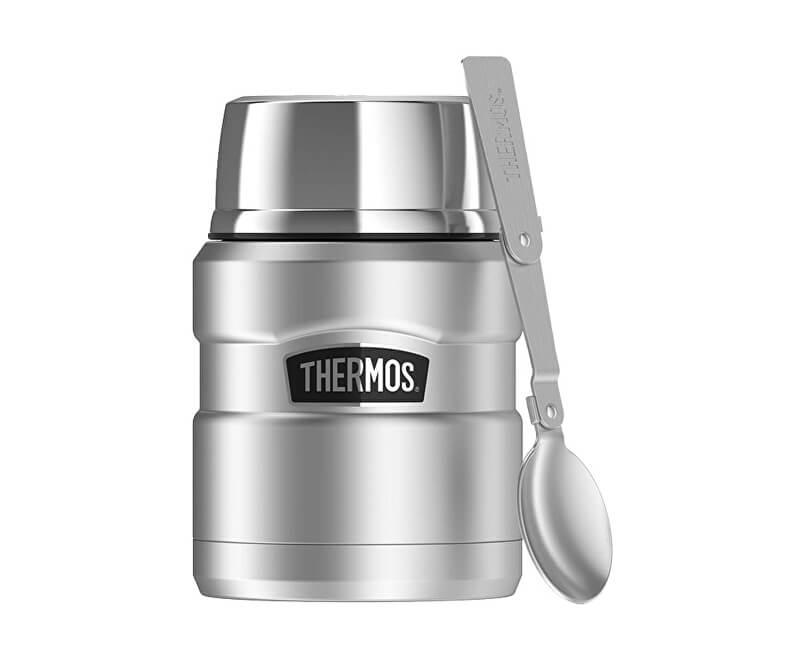 Thermos Style Termoska na jedlo sa skladateľná lyžicou a šálkou - nerez 470  ml bbf1f04faf2