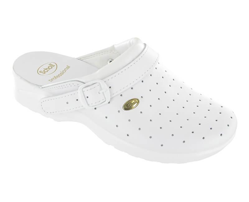 c3ef0c4636e1c Scholl Zdravotná obuv Clog Racy byc-U - biela veľ. 45- ZĽAVA ...